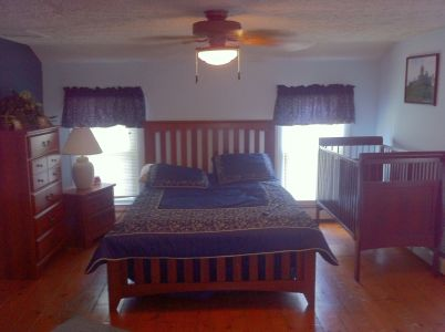 Vacation rentals seneca lake watkins glen ny Master bedroom with a crib